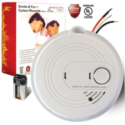 Air Products and Controls APC-120V-CO-S -  Hardwired Combination Smoke and Carbon Monoxide Detector with Battery Back Up