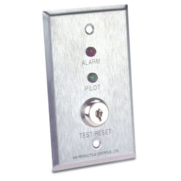 Air Products and Controls MS-KA/P/R - Remote With Red Alarm, Green Pilot, & Key Test/ Reset