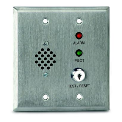 Air Products and Controls MS-RH/KA/P/R - Remote Alarm With Pilot, Key And Horn For Double Gang Box