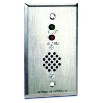 Air Products and Controls MS-RH/P/A - Remote Alarm With Pilot And Horn For Single Gang Box