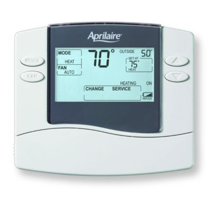 Aprilaire 8465 - Digital Programmable Thermostat 2 Heat/1 Cool Heat Pump Dual Power