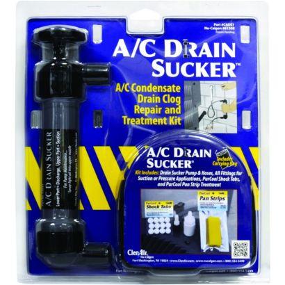 ClenAir 61308 - A/C Drain Sucker, Condensate Drain Clog Repair and Treatment Kit