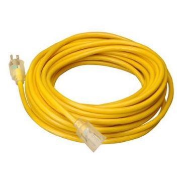 Coleman Cable - 12/3 50' SJTW Extension Cord - Yellow