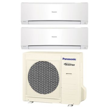 Panasonic CU2E18NBU200 - 18,000 BTU Dual-Zone Wall Mount Mini Split Air Conditioner Heat Pump 208-230V (9-9)
