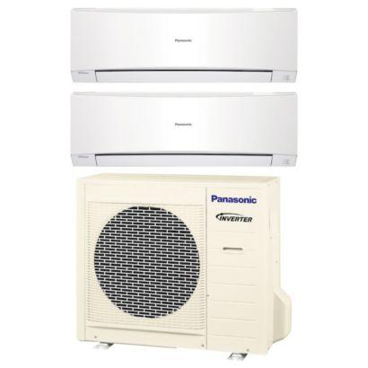 Panasonic CU2E18NBU200 - 18,000 BTU Dual-Zone Wall Mount Mini Split Air Conditioner Heat Pump 208-230V (9-9)