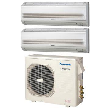 Panasonic CU3KE19NBU203 - 18,600 BTU Dual-Zone Wall Mounted Mini Split Air Conditioner with Heat Pump 220V (7-12)