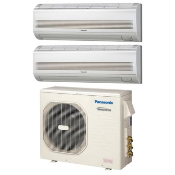 Panasonic Dual-Zone 18,600 BTU Ductless Mini-Split Heat Pump System (12k, 12k) 18 SEER
