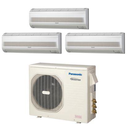 Panasonic® Tri-Zone 18,600 BTU Ductless Mini-Split Heat Pump System (7k, 9k, 12k)