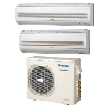 Panasonic CU4KE24NBU207 - 23,200 BTU Dual-Zone Wall Mount Mini Split Air Conditioner Heat Pump 208-230V (9-18)