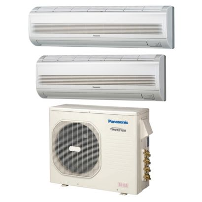 Panasonic® CU4KE24NBU207 - 23,200 BTU Dual-Zone Wall Mount Mini Split Air Conditioner Heat Pump 208-230V (9-18)