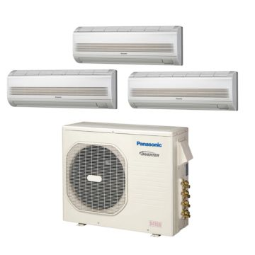 Panasonic CU4KE24NBU301 - 23,200 BTU Tri-Zone Wall Mounted Mini Split Air Conditioner with Heat Pump 220V (7-7-9)