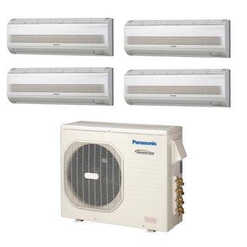 Panasonic CU4KE24NBU400 - 23,200 BTU Quad-Zone Wall Mount Mini Split Air Conditioner Heat Pump 208-230V (7-7-7-7)