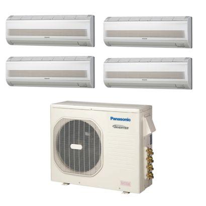 Panasonic CU4KE24NBU400 - 23,200 BTU Quad-Zone Wall Mount Mini Split Air Conditioner Heat Pump 208-230V (7-7-7-7)