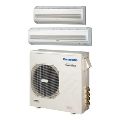 Panasonic® CU4KE31NBU207 - 30,600 BTU Dual-Zone Wall Mount Mini Split Air Conditioner Heat Pump 208-230V (9-18)