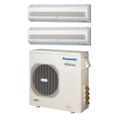 Panasonic® CU4KE31NBU209 - 30,600 BTU Dual-Zone Wall Mount Mini Split Air Conditioner Heat Pump 208-230V (18-18)