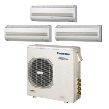 Panasonic CU4KE31NBU306 - 30,600 BTU Tri-Zone Wall Mount Mini Split Air Conditioner Heat Pump 208-230V (9-9-12)