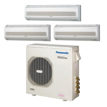 Panasonic CU4KE31NBU308 - 30,600 BTU Tri-Zone Wall Mounted Mini Split Air Conditioner with Heat Pump 220V (7-7-18)