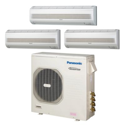 Panasonic® CU4KE31NBU310 - 30,600 BTU Tri-Zone Wall Mount Mini Split Air Conditioner Heat Pump 208-230V (7-9-18)
