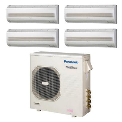 Panasonic CU4KE31NBU400- 30,600 BTU Quad-Zone Wall Mount Mini Split Air Conditioner Heat Pump 208-230V (7-7-7-7)