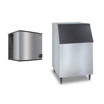 """Manitowoc ID1106A-261-C730 - 16,250 BTU 30"""" Indigo Dice Cube Ice Machine & 560 lbs C-Style Bin System 220V"""
