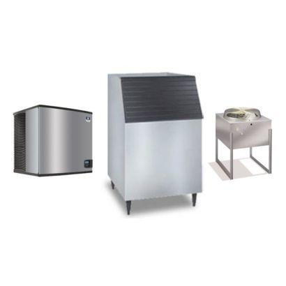 """Manitowoc ID1196N-261-C730 - 16,250 BTU 30"""" Remote Cooled Indigo Dice Cube Ice Machine & C-Style Bin System 208-230V"""