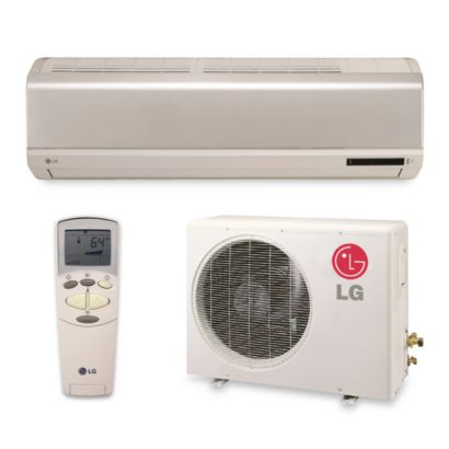 LG - 17,800 BTU Single-Zone Ductless Split Heat Pump System 208/230 VAC