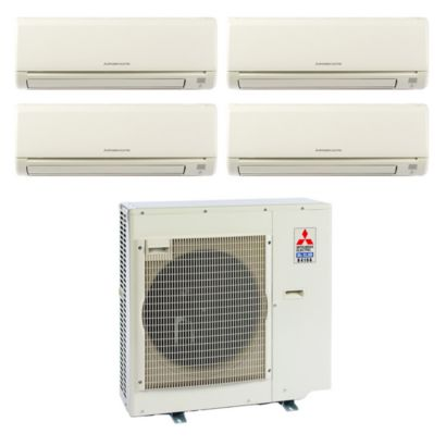 Mitsubishi MXZ4B36NA14002- 35,400 BTU Quad-Zone Wall Mount Mini Split Air Conditioner Heat Pump 208-230V (6-6-6-9)