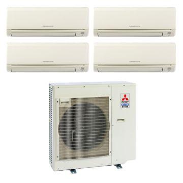 Mitsubishi MXZ4B36NA14003-35,400 BTU 18 SEER Quad-Zone Wall Mounted Mini Split Air Conditioner with Heat Pump 220V (6-6-6-12)