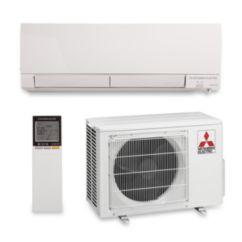 Mitsubishi - 9,000 BTU 30.5 SEER Wall Mount Ductless Split Heat Pump System 208/230V w/ i-see & H2i Hyper Heat