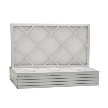 "ComfortUp WD50S.0112H24H - 12 1/2 x 24 1/2 x 1"" MERV 6 Fiberglass HVAC Filter - 6 Pack"