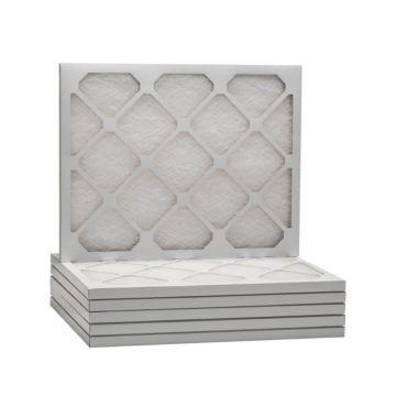 "ComfortUp WD50S.0115F25H - 15 3/8"" x 25 1/2"" x 1"" MERV 6 Fiberglass Air Filter - 6 pack"