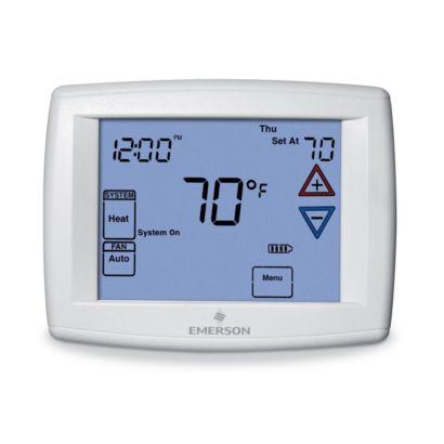 "Emerson 1F95-1277 - Big Blue 12"" Display, Touchscreen Premium Universal Digital Thermostat, Backlit Display"