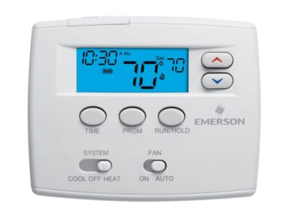 """Emerson 1F80-0224 - Blue 2"""" Programmable Single Stage Thermostat"""