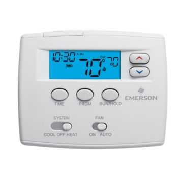 """Emerson 1F80-0261 - Blue 2"""" Programmable Single Stage Thermostat"""