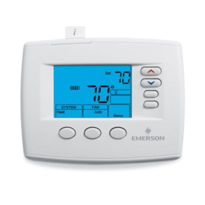"Emerson 1F83-0471 - Blue 4"" Display, Universal Digital Thermostat"
