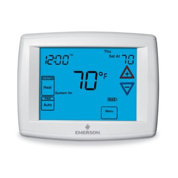 "Emerson 1F97-1277 - Big Blue 12"" Display, Touchscreen Universal Digital Thermostat"