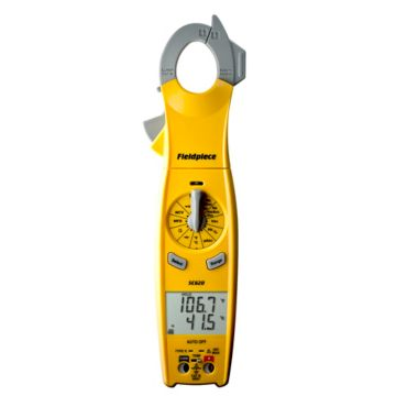 Fieldpiece Instruments SC620 - Loaded Clamp Meter with Swivel Head (Replaces SC54, SC76)