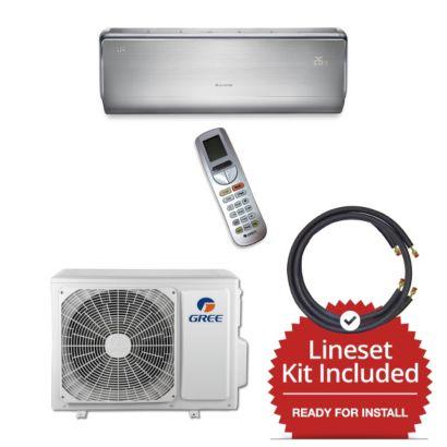 Gree CROWN09230-141225 - 9,000 BTU 30 SEER  Wall Mount Mini Split Air Conditioner Heat Pump 208-230V & 25' Line Set