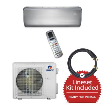 Gree CROWN18230-145835 - 18,000 BTU 21 SEER  Wall Mount Mini Split Air Conditioner Heat Pump 208-230V & 35' Line Set