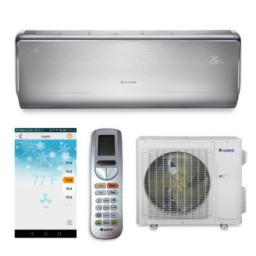 Gree CROWN18HP230V1A - 18,000 BTU 21 SEER CROWN Wall Mounted Ductless Mini Split Air Conditioner with Heat Pump 220V