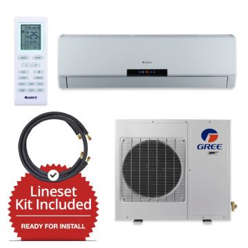 Gree NEO09115V-143815 - 9,000 BTU 22 SEER Wall Mount Mini Split Air Conditioner Heat Pump 115V & FREE 15' Line Set