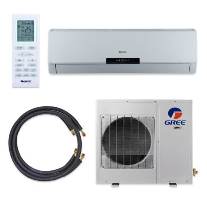 GREE Neo Premium Efficiency 12,000 BTU Ductless Mini Split A/C (115V) w/ Inverter, Heat, Remote & FREE 50' Line Set Kit