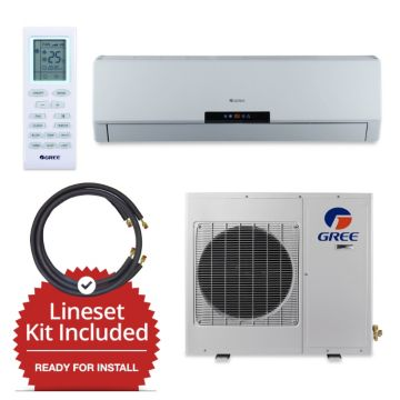 Gree NEO12230V-143815 - 12,000 BTU 20 SEER Wall Mount Mini Split Air Conditioner Heat Pump 208-230V & FREE 15' Line Set