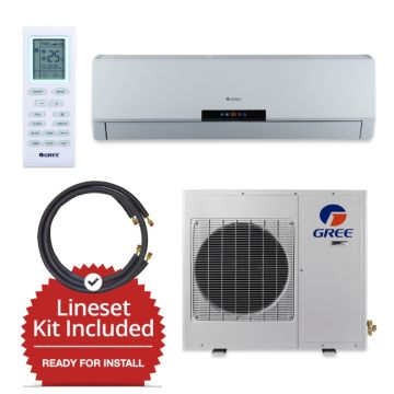 Gree GWH36LB-D3DNA3E/LS1458FF25W - 36,000 BTU Wall Mount Mini Split Air Conditioner Heat Pump 208-230V & FREE 25' Line Set