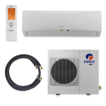 GREE Terra LE Ultra Efficient 12,000 BTU Ductless Mini Split A/C (208/230V) w/ Inverter, Heat, Remote & FREE 25' Line Set Kit