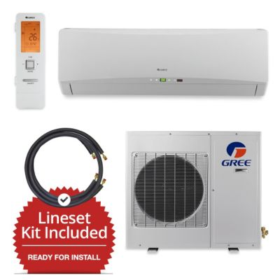 Gree GWH18TC-D3DNA1A-LE/LS1458FF15W- 18,000 BTU Wall Mount Mini Split Air Conditioner Heat Pump 208-230V & FREE 15' Line Set