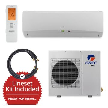 Gree GWH18TC-D3DNA1A-LE/LS1458FF25W- 18,000 BTU Wall Mount Mini Split Air Conditioner Heat Pump 208-230V & FREE 25' Line Set