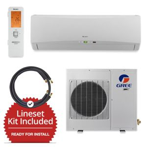 Gree GWH18TC-D3DNA1A-LE/LS1458FF25W- 18,000 BTU Wall Mounted Mini Split Air Conditioner w/ Heat Pump 220V & FREE 25' Line Set