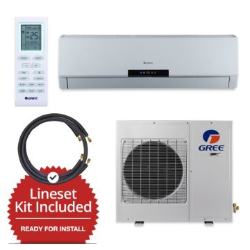 Gree GWH30LB-D3DNA3E-LE/LS1458FF15W- 30,000 BTU Wall Mount Mini Split Air Conditioner Heat Pump 208-230V & FREE 15' Line Set