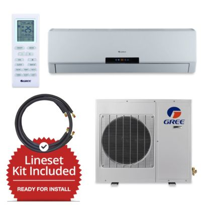 Gree GWH30LB-D3DNA3E-LE/LS1458FF25W- 30,000 BTU Wall Mount Mini Split Air Conditioner Heat Pump 208-230V & FREE 25' Line Set
